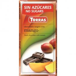Chocolate Negro Con Mango Sin Azúcar 75 Gr