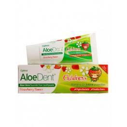 Dentifrico Aloe Dent Para Niños Sabor Fresa 50 Ml