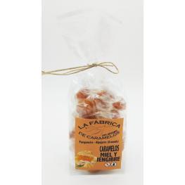 Caramelos de Miel y Jengibre 100 Gr Artesanos