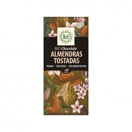 Tableta Chocolate Almendras Tostadas Bio 70 Gr