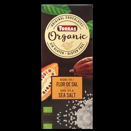 Chocolate Negro y Flor de Sal Bio 100 Gr