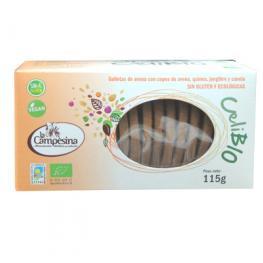 Galletas Avena Con Copos de Avena, Quinoa, Jengibre y Canela Sin Gluten 115 Gr Eco
