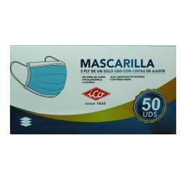 Pack 50 Mascarillas 3 Capas Desechables  Adultos