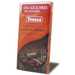 Chocolate Negro Con Pepitas de Cacao 75 Gr