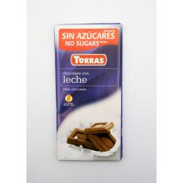 Chocolate Con Leche Sin Azúcar 75 Gr