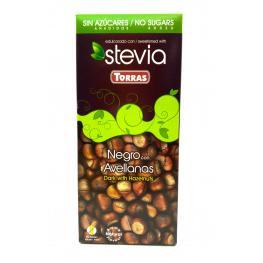 Chocolate Negro Con Avellanas y Stevia Sin Azúcar 125 Gr