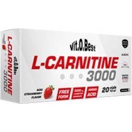 L-Carnitine 3000 Sabor Fresa 20 Vial