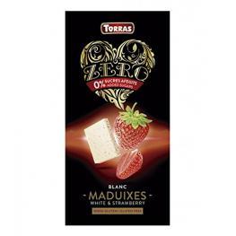 Chocolate Blanco Con Fresas Sin Azúcar 125Gr  Bio