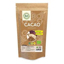 Cacao En Polvo Crudo Bio 250 Gr Sol Naural