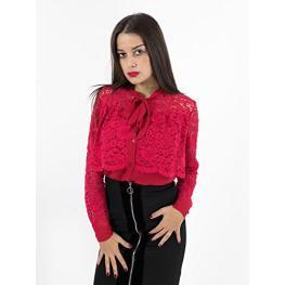 Camisa Roja Encaje y Lazo