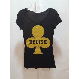 Camiseta M/c Negro Trébol Oro