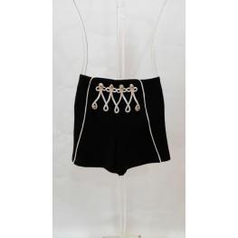 Short Cordones Blancos Sahoco Negro