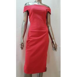 Vestido Rojo Access Escote Barco