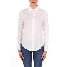 Camisa M/l Blanca Botones Perlas