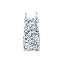 Vestido  Blanco Flores Azules