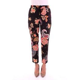 Pantalón Pijama Negro Cachemir y Flores