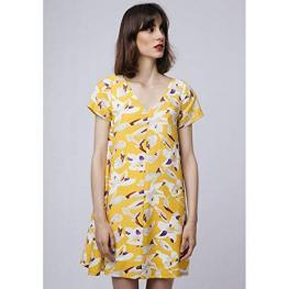 Vestido Amarillo Flores Abstractas