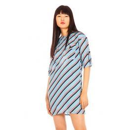 Vestido Azul Rayas  Tania