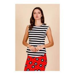 Camiseta Rayas Blanco/negro Striped