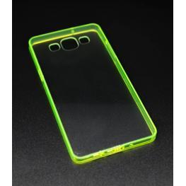 Funda Gel Rigida Transparente Galaxy A5 Con Bordes Color Verde