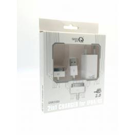 Cargador Iphone 4/4S 2-En-1 28039