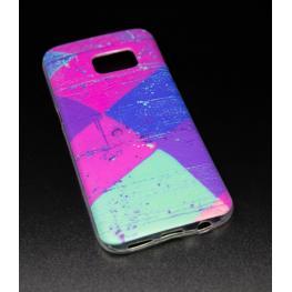 Funda Gel Samsung Galaxy S7 / G930 Con Cuadrados de Colores