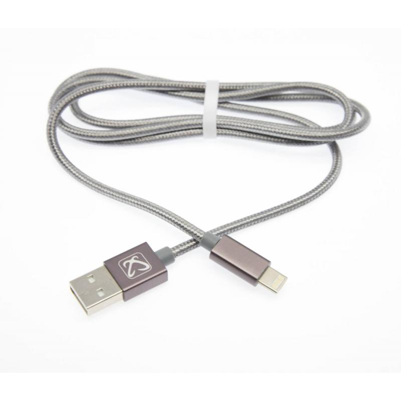 Cable Color Plata 2 En 1 Micro Usb - Iphone 5 y 6