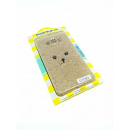 Funda Peluche Color Marrón Galaxy Grand Prime / G530