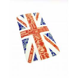 Funda Gel Idol 3 5.5 / 6045Y Con Dibujo de Bandera Inglesa