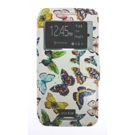Funda Libro Motorola X Style Con Dibujo Mariposas