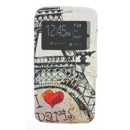 Funda Libro Galaxy S5 Con Dibujo París