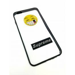 Funda Rígida Con Borde Negro y Emoticono Iphone 6 Plus - 6S Plus