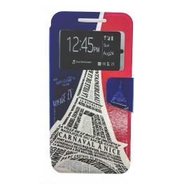 Funda Libro Nexus 5X Con Dibujo la Torre Eiffel