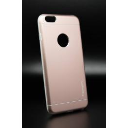 Funda Design Rosa Gel Por Dentro Metalica Por Fuera Iphone 6 Plus/6S Plus