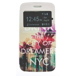 Funda Libro Alcatel Pop2 Con Dibujo Nyc