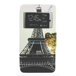 Funda Libro Wiko Slide 2 Con Dibujo la Torre Eiffel