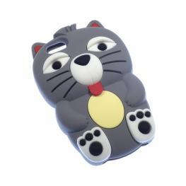 Iphone 4 Funda Figura Gato Color Gris