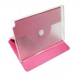 Funda Libro Rosa Con Silicona Interior Galaxy Tab T530