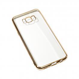 Galaxy S7 Funda Gel Con Bordes Color Dorado