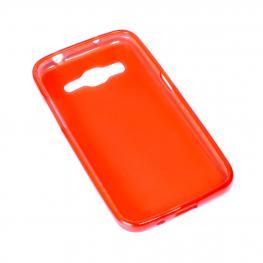 Alcatel A5 Led Funda Gel Naranja - Rojizo