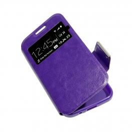 Funda Libro Morada Alcatel Smart 4 Max