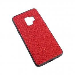 Samsung S9 Funda Rígida Con Cuadraditos Color Rojo