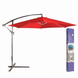 Sombrilla Parasol Rojo Diam. 300 X H 250 Cm/180Gr