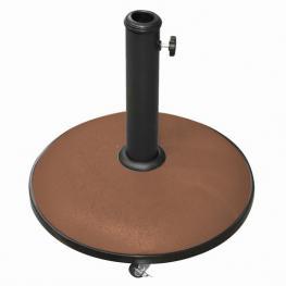 Soporte Sombrilla Marron Cemento 25 Kg C/ruedas