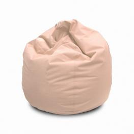 Puff Crema Polipiel +/- Diam 80 X H 80 Cm