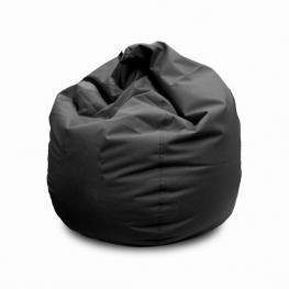 Puff Negro Polipiel +/- Diam 80 X H 80 Cm