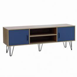 Mueble Tv 2 Puertas y Patas Metal 120 X 38 X 50 Cm