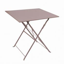 Mesa Metal Plegable Mistral Marron 70X70 X H71