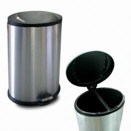 Cubo Basura Reciclaje Ovalado 2 Compt.  40 L