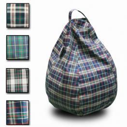 Puff Pera Poliester Diseño Escoces Variado 100X70